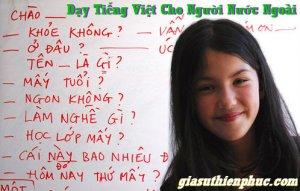 Dạy Tiếng Việt Cho Người Nước Ngoài